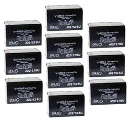 10 PACK UPG UB12120 12V 12AH F2 Replacement Battery for Xcoo