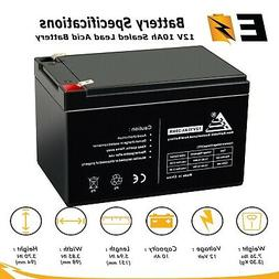 12V 10Ah F2 KID TRAX RECHARGEABLE REPLACEMENT BATTERY