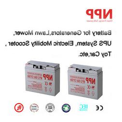 NPP 12V 18 Ah Rechargeable SLA Battery Replace UB12180 D5745