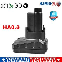 12V 6.0AH Lithium Replacement Battery For Ridgid R82049 R820