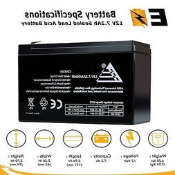 12V 7.2Ah SLA Rechargeable Replacement Battery for GS Portal