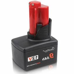Waitley 12V 9.0Ah Battery for Milwaukee M12 9000mah Replacem