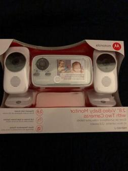 "Motorola 17-2.8"" Video Baby Monitor With Two Cameras"