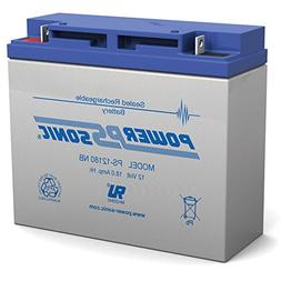 Powersonic 12V 18AH SLA Battery Replacement for EV Rider Sta