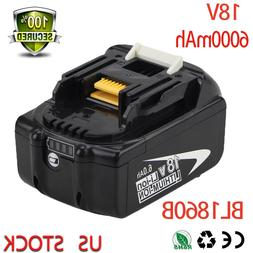 18V 6.0Ah BL1860B with LED Indicator for Makita Battery LXT