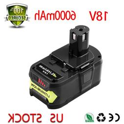 18V 6000mAh Replacement  For Ryobi Lithium-Ion Battery One+