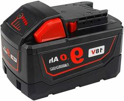 18v 9 0ah replacement battery for milwaukee