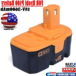 18V P100 P101 3600mAh Upgraded Replacement for Ryobi Battery
