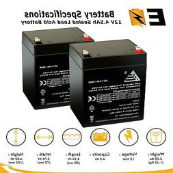 2 Pack - 12V 4.5Ah Replacement Scooter Battery for Enduring