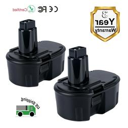 2-Pack 14.4V 3.0Ah Replacement Battery for Dewalt DC9091 DE9
