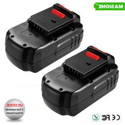 2 Pack 18V NiCd Replacement Battery for Porter Cable PC18B 1