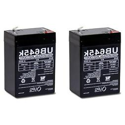 UPG 2 Pack - 6V 4.5Ah POWER-SONIC PS-640, PS640F1 Replacemen
