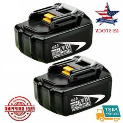 2-Pack BL1860 18V Max LXT 6.0Ah Lithium-Ion Battery Replacem