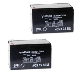 2 PACK NEW 12V 12AH F2 SLA Replacement Battery for APC Netwo