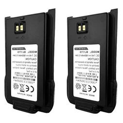 2 x BL1719 Replacement Battery for HYT TC-508 TC-518 Two-Way
