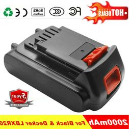 20V 2.0Ah Lithium Replacement Battery For Black & Decker LBX