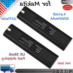 2Pack 9.6v 3000mAh Ni-MH Replacement Battery For Makita 9000