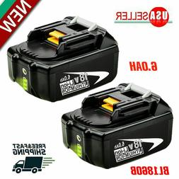 2X 18V 6.0Ah REPLACE BL1860B BATTERY LXT LITHIUM-ION FOR Mak