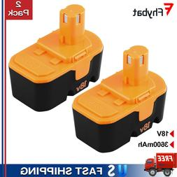 2x 3.6Ah Replace for Ryobi 18V NiMh Battery Pack One Plus P1