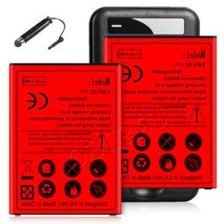 2x 5080 mAh High Capacity Replacement Battery Quick Charge F