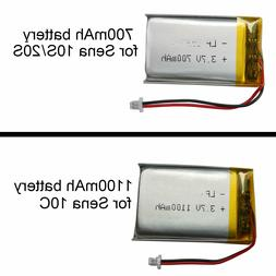 3.7v Battery Replacement  - 700mAh for Sena 20S ,1100 for 10