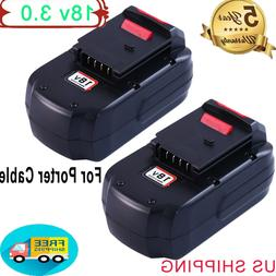 3000mAh 18V Upgraded Replace For Porter Cable PC18B Battery
