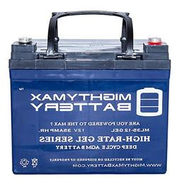 Mighty Max Battery 12V 35AH Gel Replacement Battery for Deep