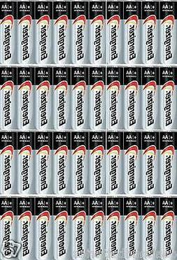 40 Energizer Max AA E91 Alkaline Batteries Made in USA