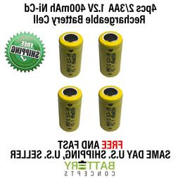 4pc Westinghouse Replacement Battery 1.2 V Volt 2/3 AA 400mA