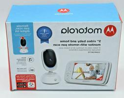 "Motorola 5"" Video Baby Monitor with Remote Pan Scan Camera B"