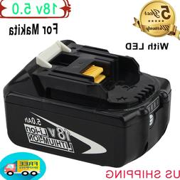 BL1860B Replace for Makita 6.0Ah 18V Battery with LED Indica