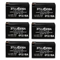 6 PACK NEW 12V 7AH SLA Battery Replacement for Bruno Electra