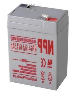 NPP 6V 4.5Ah Rechargeable Sealed Lead Acid  Battery Replace
