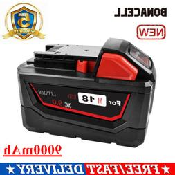 Bonacell 9.0Ah 18V For Milwaukee M18 48-11-1890 Li-Ion High