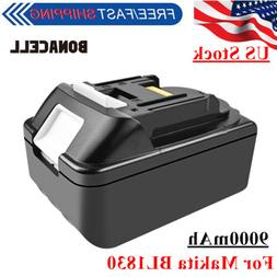 Bonacell 9000mAh Li-ion Replace Battery For Makita BL1830 BL