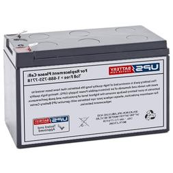 12V 9Ah F2 - Compatible Replacement Battery for APC Back-UPS