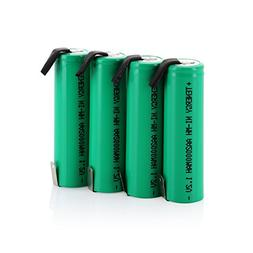 Combo: 4 pcs Tenergy AA 2000mAh NiMH Rechargeable Battery Fl
