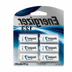 Energizer 123 Lithium Photo Batteries, 6-Pack