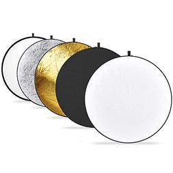 Neewer 43-inch / 110cm 5-in-1 Collapsible Multi-Disc Light R