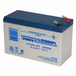 Power-Sonic F-2 12V 7 Ah SLA Rechargeable Battery for Securi