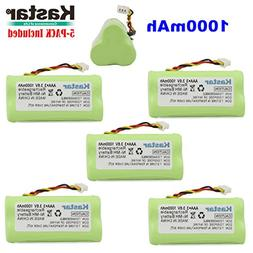 Kastar 5-PACK AAA 3.6V 1000mAh Ni-MH Rechargeable Battery Re