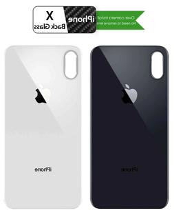 Back Glass for iPhone X OEM Replacement Battery Rear Cover w
