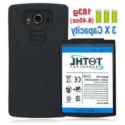Backup Extended Replacement Battery+Black TPU Fr LG G4 H810