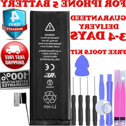 Brand NEW Replacement For iPhone 5 Battery  Free Kit