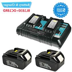 Charger DC18RC Battery For Makita and Replace LXT 18v Batter