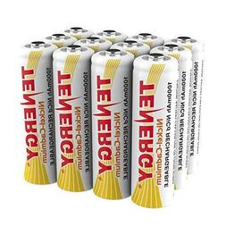 Combo: 12 Tenergy AA NiCd Rechargeable Batteries for Solar/G