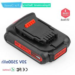 DCB203 Replace for DEWALT 20V Max Battery Compact 2500mAh DC