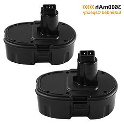 18V 3600mAh Extended Capacity Replacement Battery for Dewalt