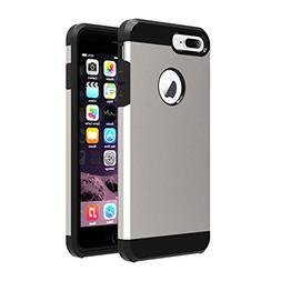 iPhone 7 plus Case,ibarbe HEAVY DUTY EXTREME Hybrid Silicone