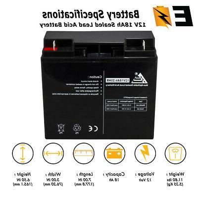 12v 18ah sla replacement battery for generac
